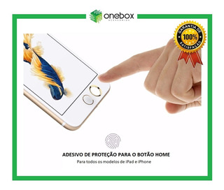 Adesivo Sticker Botão Home iPad / iPhone 5 / 6 / 7 / 8