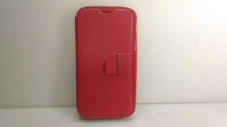 Capa Carteira Case Galaxy S3 Mini Gt-i8190,couro Vermelho