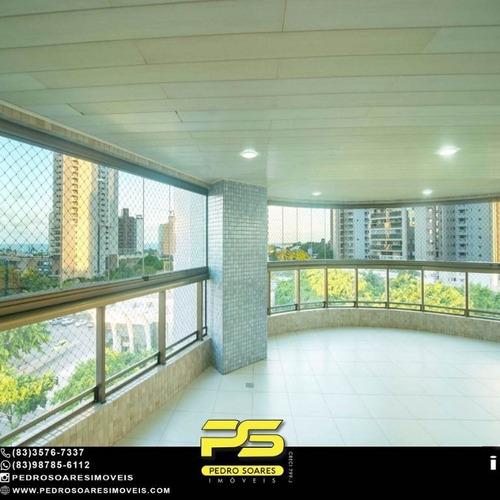 Imagem 1 de 14 de Apartamento Com 5 Dormitórios À Venda, 380 M² Por R$ 1.600.000 - Altiplano - João Pessoa/pb - Ap5063