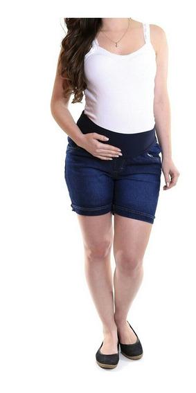 Short Gravidissima Jeans Curto