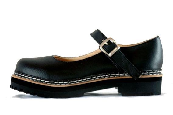 Guillerminas Dirty Boots Base Doble Cuero Talles 34 Al 41