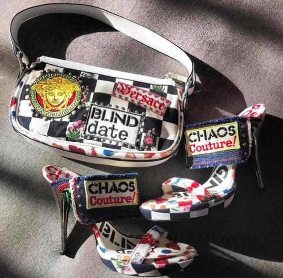 Conjunto Mule E Bolsa Versace..!