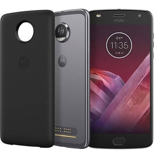 Smartphone Motorola Moto Z2 Play Power 64gb Platinum Vitrine