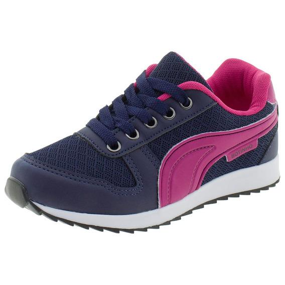 Tênis Infantil Botinho - 647ba Azul/rosa