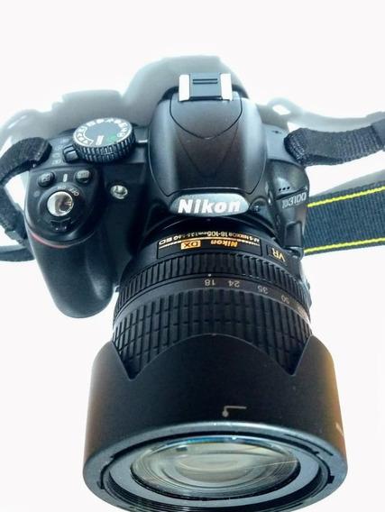 Câmera Fotográfica Dslr, D3100 Nikon + Lente 18-105 + Bolsa