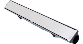 Ralo Linear 6x50 Grelha Inox Continuo Sifonado Cega Anti-odo