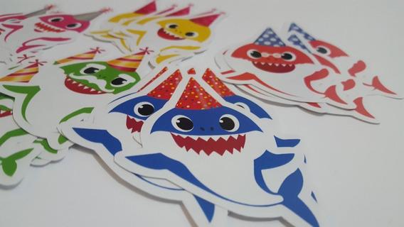Autoadhesivos Stickers Baby Shark Candybar Cumpleaños X25u