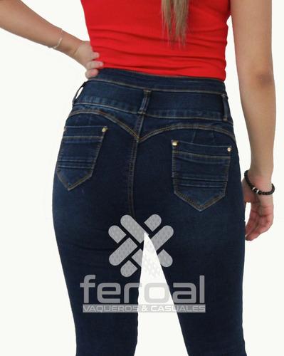Pantalon Dama Mezclilla Push Up Strech C Elastico Sin Bolsa Mercado Libre