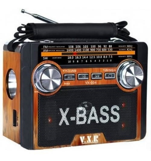 Radio Bluetooth Caixa De Som Led Com Lanterna Am Fm Sw Usb