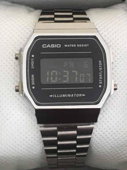 Reloj Casio A168 Plata Negro Mayoreo