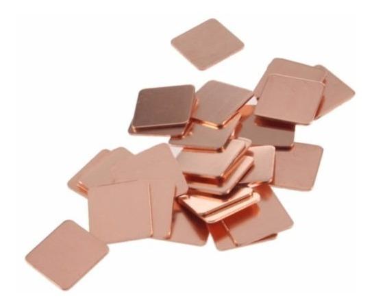 Chapa De Cobre 1.5cm Thermal Pad Copper Shim 15x15x1.2mm