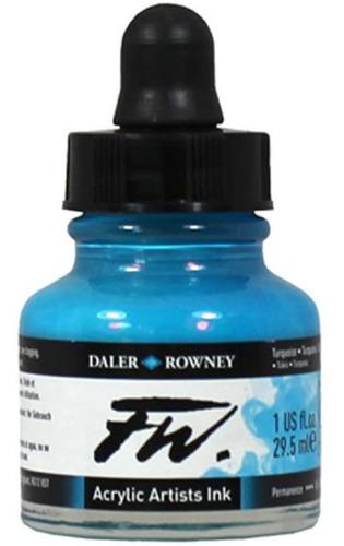 Imagen 1 de 2 de Daler-rowney Fw - Tinta Acrilica Para Artistas, 1 Oz, Azul
