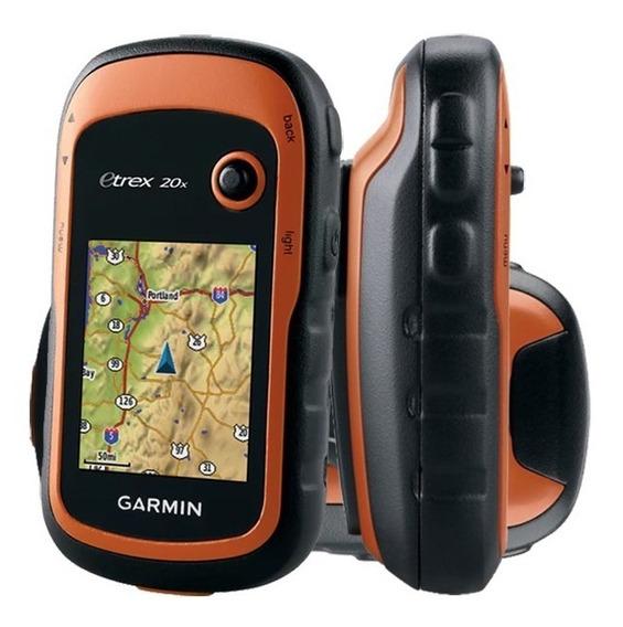 Gps Garmim Etrex 20x Navegador Portátil Náutico Trilha