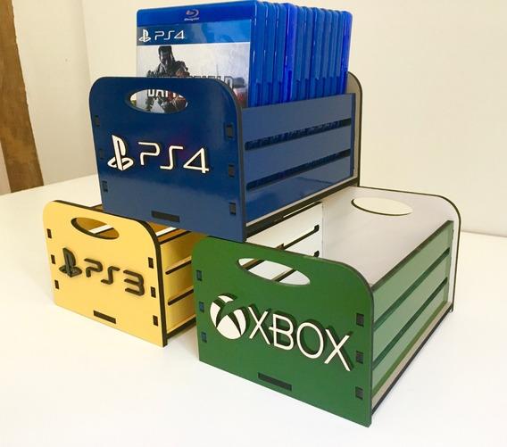 Kit 4 Porta Jogos, Case P/ Games - Ps4 Xbox Ps3 Switch