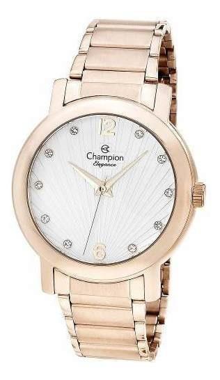 Relógio Feminino Dourado Champion Elegance Cn25869z