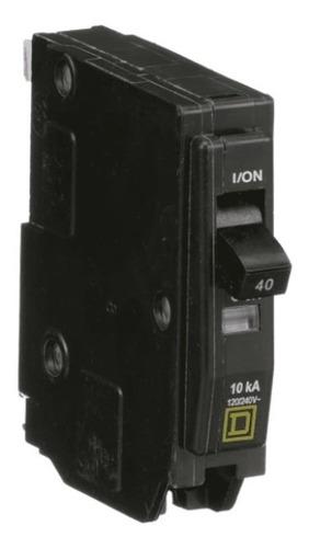 Imagen 1 de 3 de Pastilla Interruptor Termomagnético Qo140 1polo40a Schneider