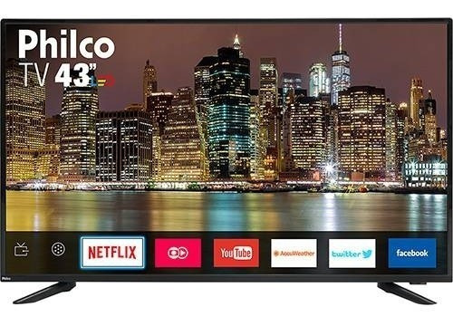 Smart Tv Led 43 Philco Full Hd Com Conversor Dig