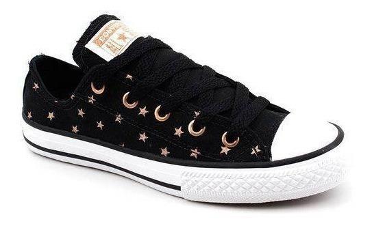 Tênis All Star Converse Infantil Estrelas Cano Baixo