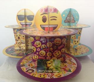 Paquete De 3 Bases Para Cupcakes Emoji,mesa De Postres