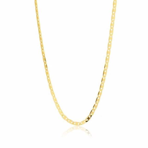 Cordão Corrente Piastrine 60cm Maciça Ouro 18k Frete Grá