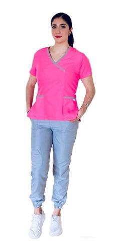 Imagen 1 de 10 de Uniforme Médico Dama, Pijama Quirúrgica, Scrub