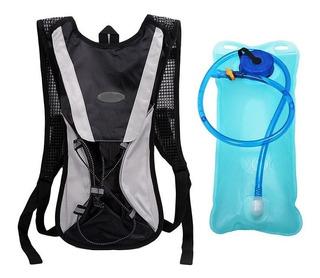 Mochila Hidratação Impermeável C/ Bolsa D`água 2 Litros Bike