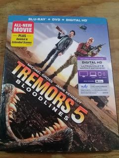 Tremors 5 Slip(bluray + Dvd) Terror Bajo Tierra 5 Importado