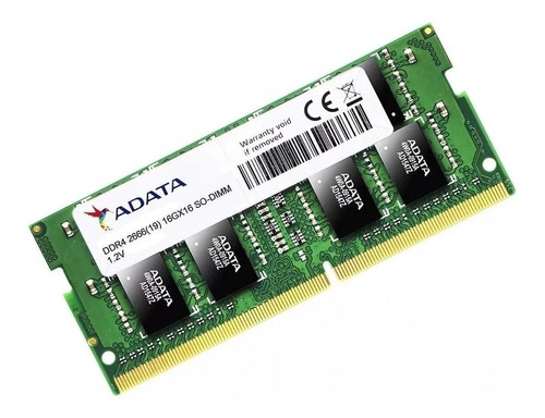 Imagem 1 de 1 de Memória RAM Premier Series color Verde  16GB 1x16GB Adata AD4S2666316G19-S