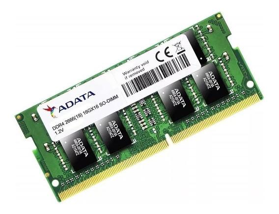 Memória RAM 16GB 1x16GB Adata AD4S2666316G19-S