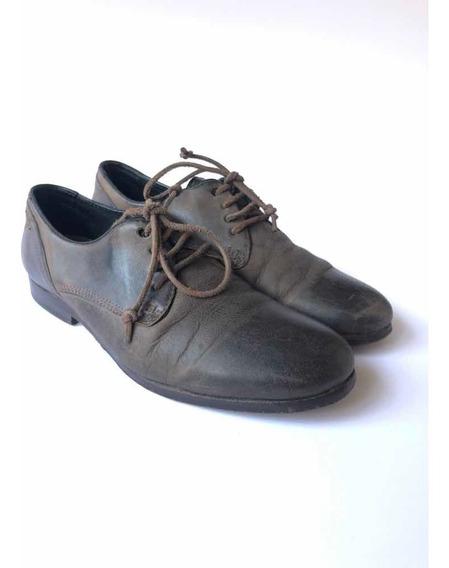 Zapatos Diésel Hombre De Cuero Marrón