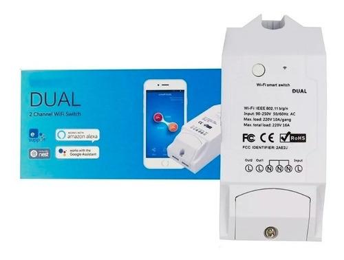 Imagen 1 de 7 de Interruptor Dual Wifi Para Domótica - Cortinas App Ewelink