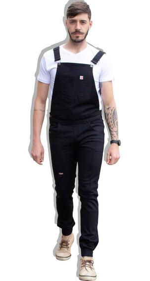 Macacão Jogger Jeans Longo Destruído Masculino 2019 Vcstilo