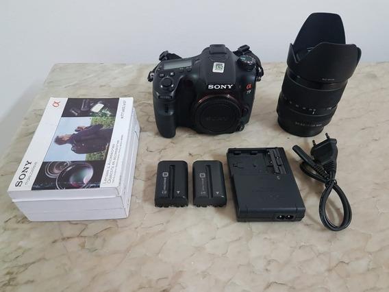 Camera Sony Alpha A77 Mais Lente 18/135mm Perfeito Estado