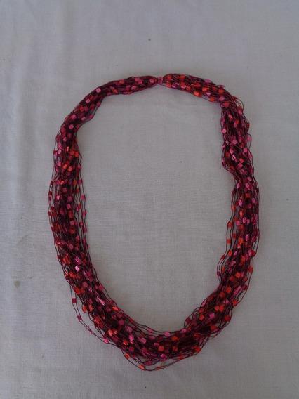 Cordão Tecido Vintage Rosa 02*