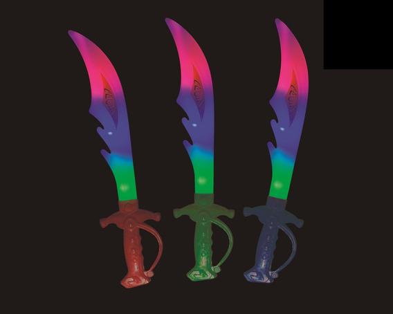 Combo Sable Espada Luminosa Con Luz Led X 10 Unidades