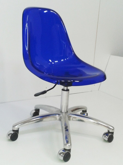 Cadeira Charles Eames Dkr Office Acrílico - Diversas Cores