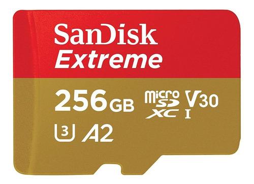 Sandisk Extreme Micro Sd 256 Gb Uhs-i U3 160 Mb/s 4k Gopro