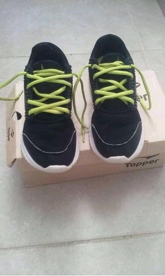 Zapatillas Originales Topper Número 34 Una Semana De Uso