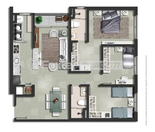Imagem 1 de 15 de Apartamento, 3 Dormitórios, 87.9 M², Passo Da Areia - 205448