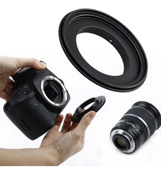 Anel Inversor Macro Reverso Canon Eos 49mm 52mm 55mm 58mm