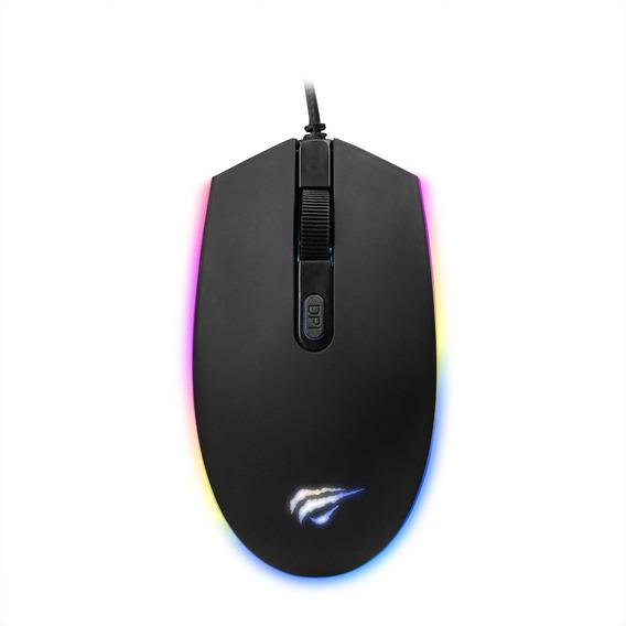 Mouse Gamer Havit Hv-ms1003 2400dpi, Com Iluminação Rgb