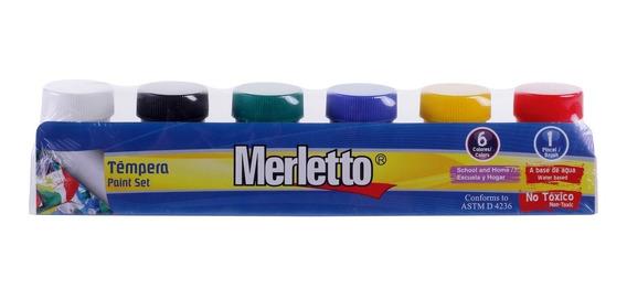 Tempera De 20ml 6 Colores Merletto