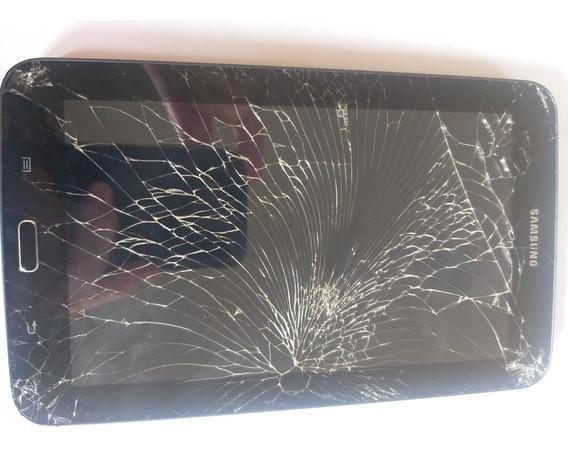 Tablet Samsung T110 Tela Quebrada Placa Boa Leia A Descrição