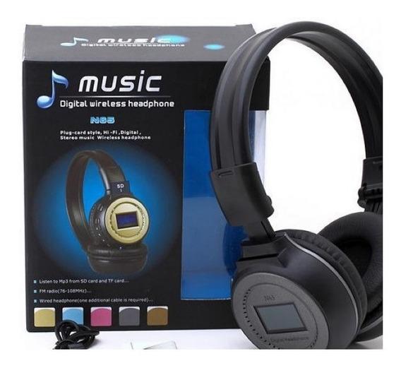 Fone De Ouvido N65 Headphone Wireless Digital