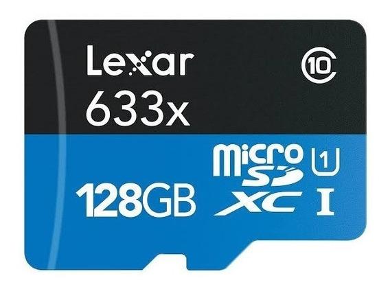 Cartão Micro Sd Lexar 633x 128gb 95mb/s Classe 10 V30 Gopro