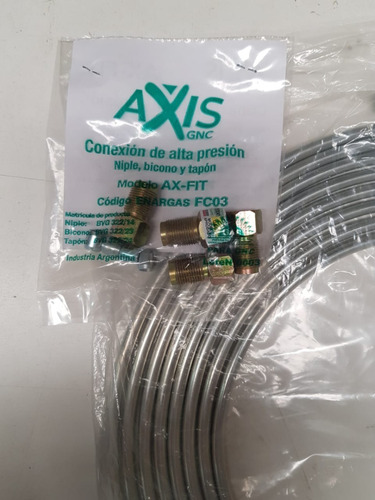 Caño Gnc De Alta Presión C/ Accesorios Axis Gnc.