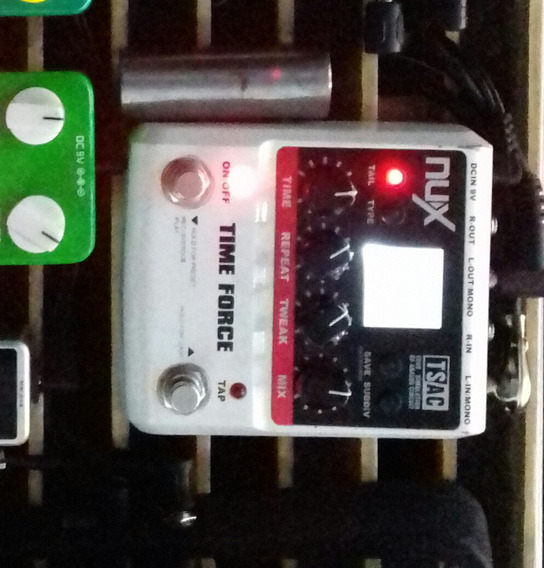 Pedal Delay Time Force Nux.