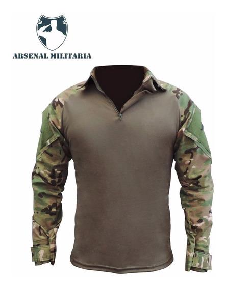 Combat Shirt Camisa Tática Militar Camuflada Airsoft Farda
