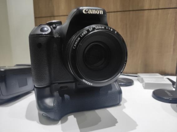 Camera Canon T3i + Flash + Tripe+ Lentes