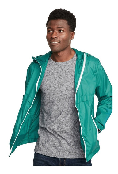 Chamarra Impermeable Rompevientos Capucha Gorro Old Navy